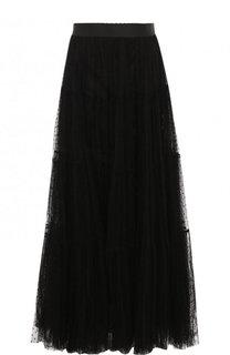 Однотонная юбка-макси с эластичным поясом Dolce & Gabbana