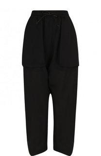 Укороченные шелковые брюки с поясом на кулиске Isabel Benenato
