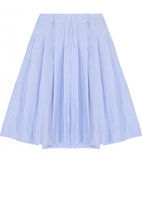 Хлопковая юбка свободного кроя с защипами Caf