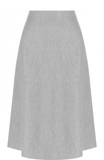 Однотонная шерстяная юбка-миди Windsor