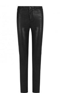 Укороченные кожаные брюки Paige