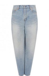 Джинсы асимметричного кроя с потертостями Balenciaga