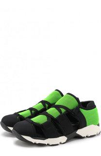 Текстильные кроссовки на шнуровке Marni