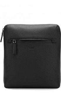 Кожаная сумка-планшет на молнии HUGO