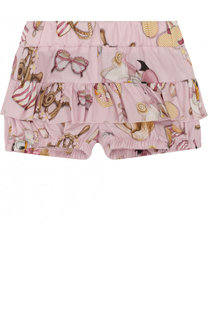 Хлопковые шорты с оборками Monnalisa