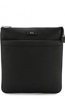 Кожаная сумка-планшет на молнии BOSS