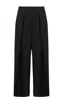 Однотонные укороченные брюки из льна Isabel Benenato