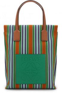 Сумка-шоппер из текстиля Loewe