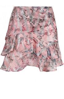 Мини-юбка с оборками и принтом Iro