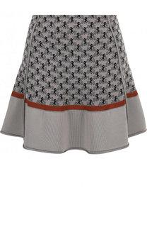 Вязаная мини-юбка с принтом Chloé