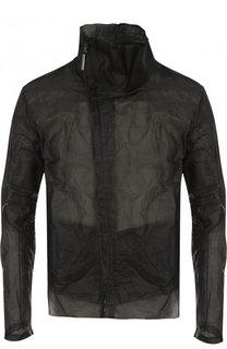 Кожаная куртка на молнии с эффектом крэш и воротником-стойкой Isaac Sellam