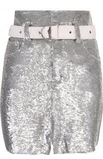Мини-юбка с пайетками и поясом Iro