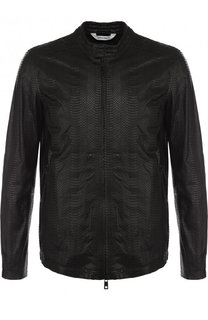 Куртка из кожи питона на молнии Giorgio Brato
