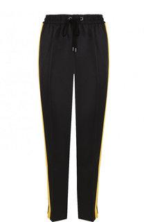 Укороченные брюки с эластичный поясом и лампасами Yohji Yamamoto