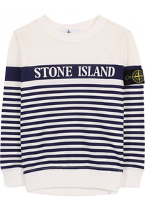 Хлопковый свитшот в полоску Stone Island
