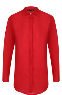 Однотонная льняная блуза Loro Piana