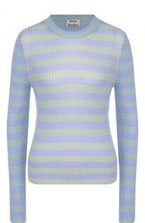 Приталенный пуловер с круглым вырезом в полоску Acne Studios