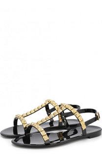 Резиновые сандалии Jelrose с заклепками Stuart Weitzman