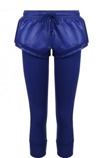 Однотонные леггинсы с мини-шортами Adidas by Stella McCartney