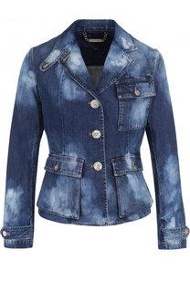 Приталенная джинсовая куртка с потертостями Ralph Lauren