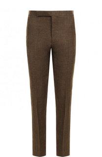 Льняные брюки прямого кроя Ralph Lauren