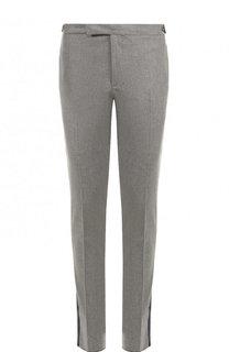 Шерстяные брюки прямого кроя с лампасами Ralph Lauren