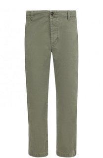 Хлопковые укороченные брюки прямого кроя Gucci