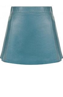 Однотонная кожаная мини-юбка Chloé