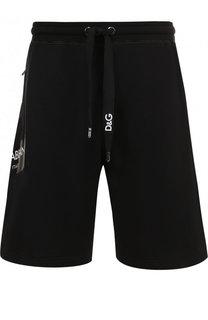 Хлопковые шорты свободного кроя Dolce & Gabbana