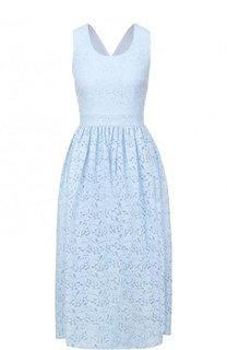 Приталенное кружевное платье-миди Blugirl
