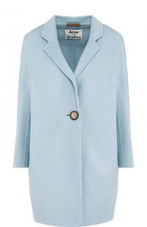 Пальто из смеси шерсти и кашемира с укороченным рукавом Acne Studios