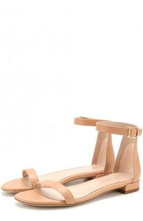 Кожаные сандалии Nudist Stuart Weitzman