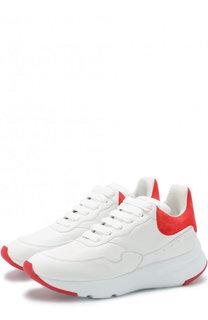 Кожаные кроссовки на массивной подошве Alexander McQueen