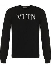 Джемпер тонкой вязки из смеси шерсти и кашемира Valentino