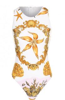 Слитный купальник с принтом Versace