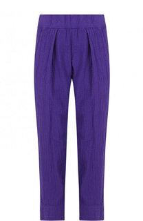 Однотонные укороченные брюки из хлопка Raquel Allegra