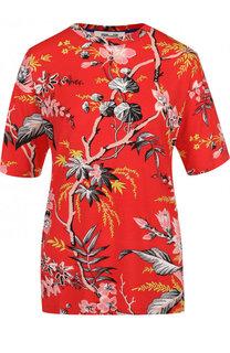 Приталенная футболка с круглый вырезом и принтом Diane Von Furstenberg