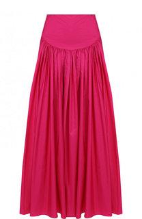 Однотонная юбка-миди свободного кроя Stella McCartney