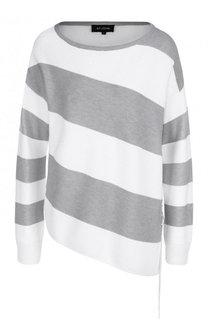 Пуловер с круглым вырезом асимметричного кроя St. John