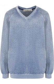 Пуловер свободного кроя с V-образным вырезом Golden Goose Deluxe Brand