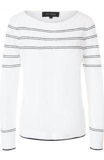 Пуловер фактурной вязки с круглым вырезом St. John