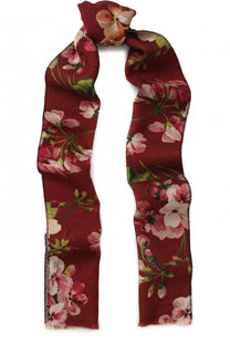 Шерстяной шарф GG Blooms Gucci