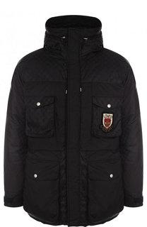 Утепленная куртка на молнии с капюшоном Gucci