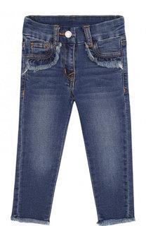 Зауженные джинсы с пайетками Monnalisa