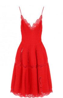 Приталенное вязаное платье-миди Givenchy