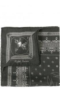 Платок из смеси кашемира и шелка Ralph Lauren