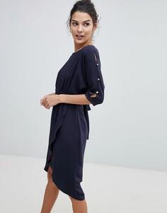 Платье-футляр Closet - Темно-синий