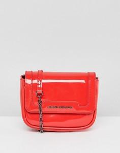 Красная сумка через плечо с ремешком-цепочкой Armani Exchange - Красный