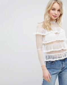 Прозрачная блузка Glamorous - Белый