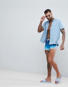 Темно-синие шорты для плавания с эффектом деграде Hype - Темно-синий